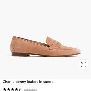J. CREW Charlie penny loafer in suede